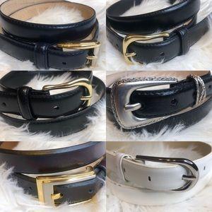 Lot of 6 Liz Claiborne Belts - All Size Large
